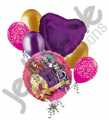 7 pc Ever After High Happy Birthday Balloon Bouquet Party Decoration Apple White](Ever After High Decorations)