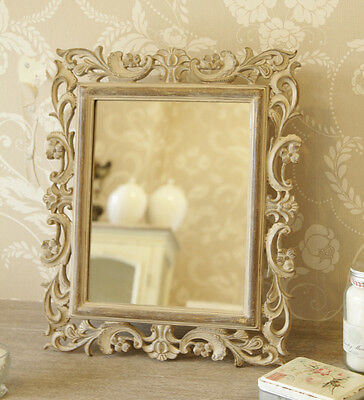 Carved wood style mirror ornate shabby chic rococo dressing table vintage