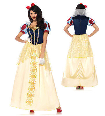 Womens Deluxe Snow White Ball Gown - Womens Snow White Kostüm