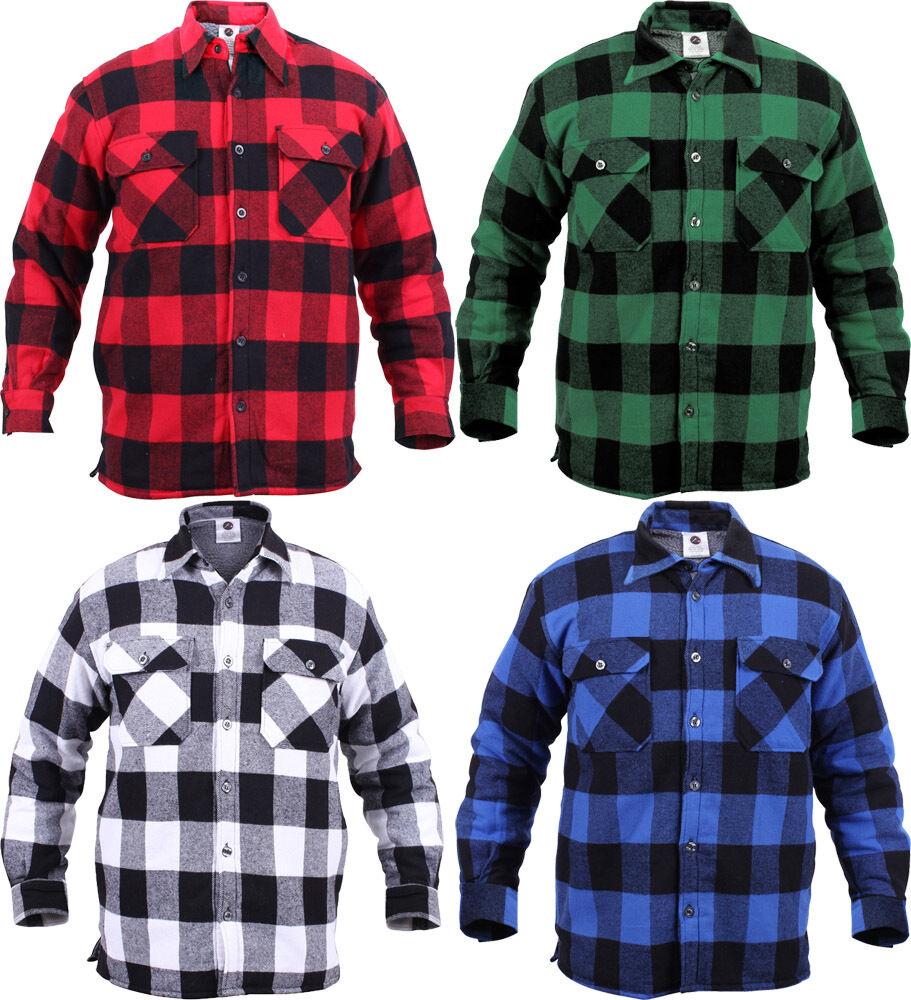 Extra heavyweight buffalo plaid sherpa lined brawny for Sherpa lined flannel shirt