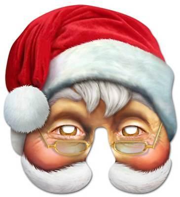 Santa Claus Prominenten Maske - hochwertiger Glanzkarton mit - Santa Claus Maske