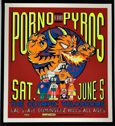 Porno For Pyros POSTER Silkscreen by TAZ Olympic Velodrome Dominguez Hills 1993