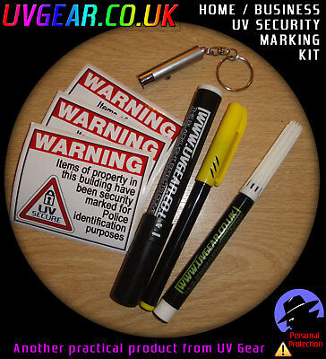 UV Security Marking Kit for home, business, vehicles. Home Business Kit