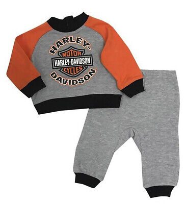 Harley-Davidson Little Boys/' #1 Tee /& Black Denim Overall 2-Piece Set 3071811