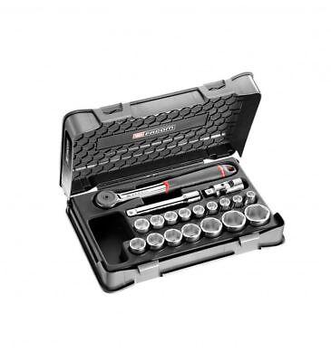 FACOM S.161-2p6 1/2'' clés à douille-set 19 pièces vollhand cliquet réversible d'occasion  Expédié en Belgium