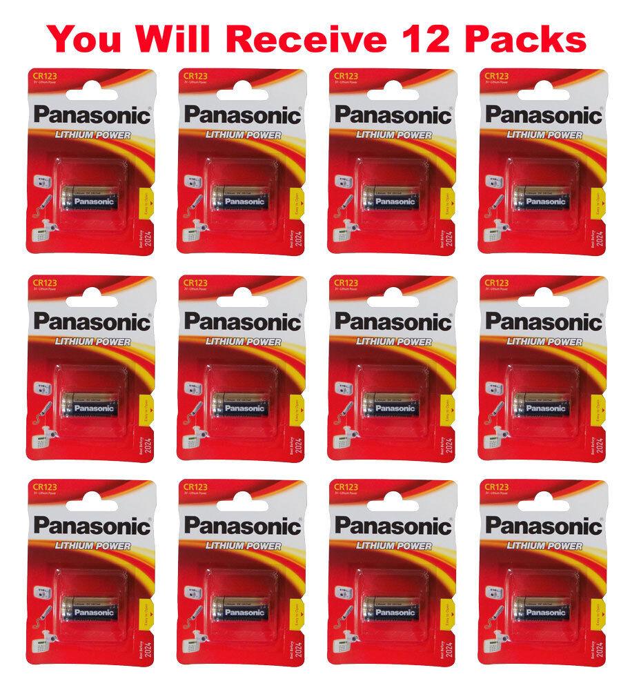 12x Panasonic CR123A Battery CR123 CR 123 Lithium 3V Photo Batteries