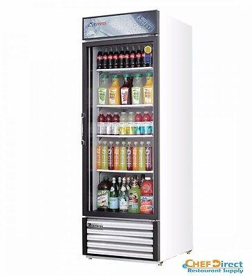 Everest Emgr20 Single Swing Glass Door Merchandiser Refrigerator
