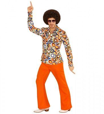 Siebziger Kostüm (70er Jahre Retro HEMD mit und ohne Muster Disco Herren Kostüm Siebziger Schlager)