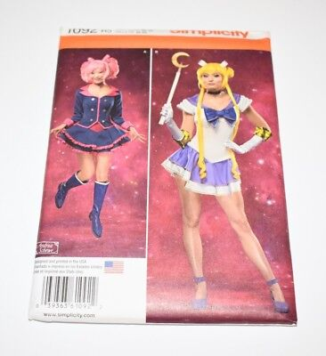 Simplicity 1092 Pattern Halloween Costume Cosplay Sailor Moon Flirty UNCUT