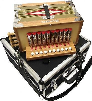 Bonetti Zydeco Cajun Accordion Button Box C w/Case and Warranty