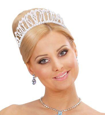 Modellierbare Perlenkrone Diadem Königin Prinzessin Krone Märchen Zubehör Tiara
