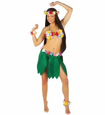 Bananenblätter Rock mit Hawaii Blumen Damen Kostüm Südsee Beach Party - Damen Bananen Kostüm