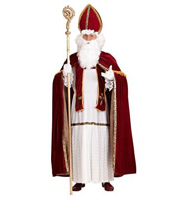 Saint Nicholas Nikolaus Kostüm für Herren Gr. L/XL Santa Claus - Saint Kostüm