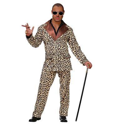 Funky Leopard Anzug Pimp Herren-Kostüm Sakko Hose Lude Zuhälter Stenz - Leopard Anzug Kostüm