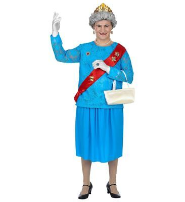 Lustiges GB Queen Kostüm für Herren englische Königin Drag Queen JGA - Lustige Karneval Kostüm