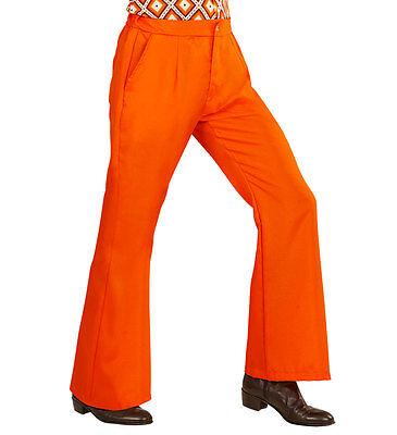 70er Jahre Schlaghose Jack für Herren orange NEU - Zubehör Accessoire Karneval F ()