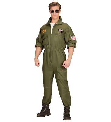 Herren Kostüm Kampfjet Piloten-Overall Kampfflieger Jetpilot Army Kampfpilot