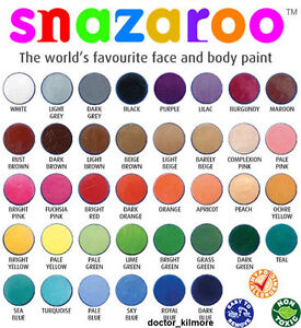 Snazaroo-Cara-Cuerpo-Pintura-Fancy-Dress-18ml-Maquillaje-30-Colores-Clasicos