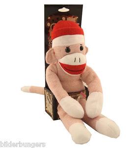 The Original Sock Monkey Pink Stuffed Animal Plush Knitted Toy Girl's Doll