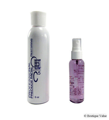 - BEST SOLUTION Jewelry Cleaner 2oz Spray Bottle with C5 Metal Polish 8oz Bottle