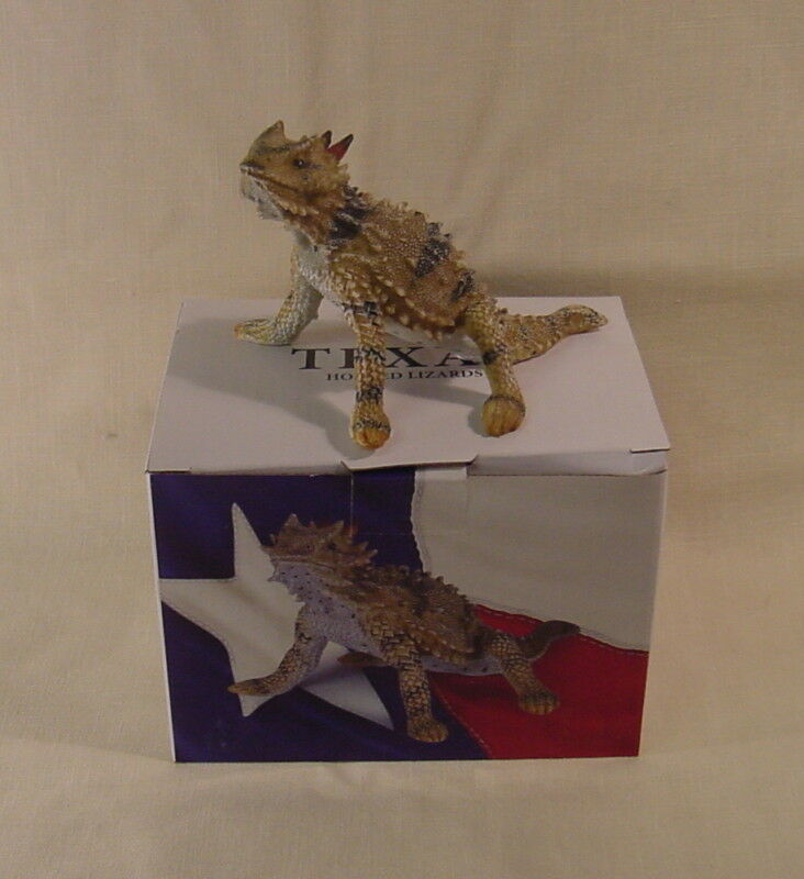 Horned Lizard Toad Frog Figurine Texas Souvenir