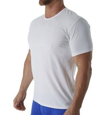 $115 CALVIN KLEIN Men's WHITE MESH CREW-NECK SHORT-SLEEVE T-SHIRT SIZE XL