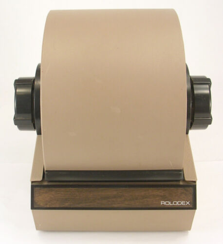 Rolodex Model 5350 Brown Color Vintage Made in Secaucus, NJ, USA