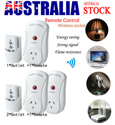 Remote Control Sockets Wireless Switch Home Mains AU Plug AC Power Outlet