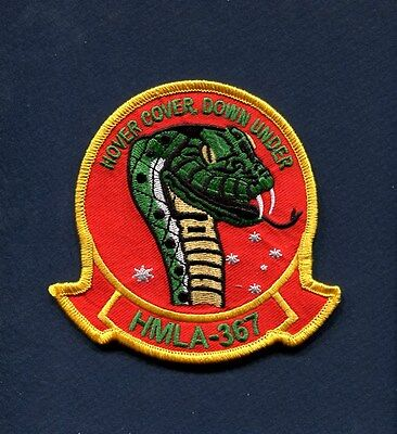 HMLA-367 SCARFACE Hover USMC MARINE CORPS AH-1 COBRA Helicopter Squadron Patch