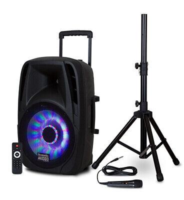 "Acoustic Audio BBQ151 Powered 1200W 15"" Bluetooth 5.0 True W"