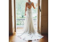 Justin Alexander Signature 9747 Charmeuse Fit and Flare with Sweetheart neckline. Never worn.