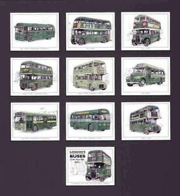 London's Country Buses of the Post-War Years - Collectors Cards