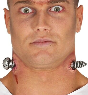 Halloween Neck Bolts Wound Special Effects Make Up Fancy Dress Costume Scar