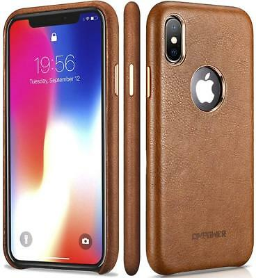 IPhone X Leather Case - Premium PU For Best Mobile Cellphone