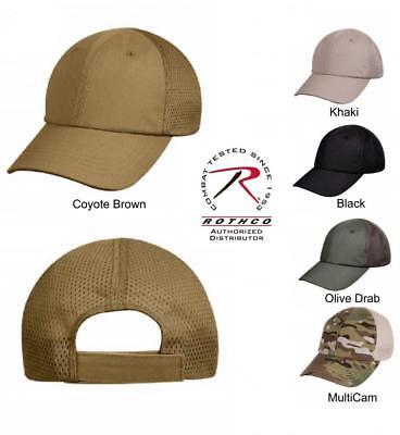 Moisture Wicking Mesh Back Tactical Military Baseball Cap Hat Rothco Adjustable