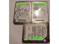 3x 2.5 HDDs 400gb 400gb 80gb (HDD Hard Drive)