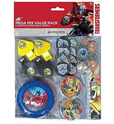 48 PC TRANSFORMERS Mega Value Favor Pack Birthday Party Supplies. Party Favors