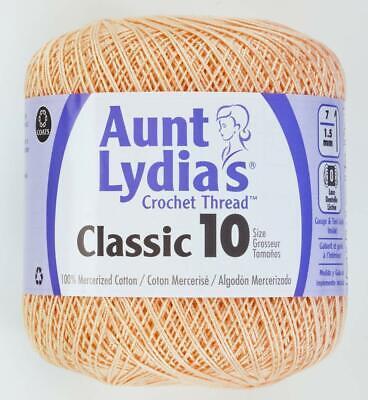 Coats Aunt Lydia's Crochet Cotton Thread Classic Size 10 Light Peach (154-424) Classic Crochet Cotton Thread