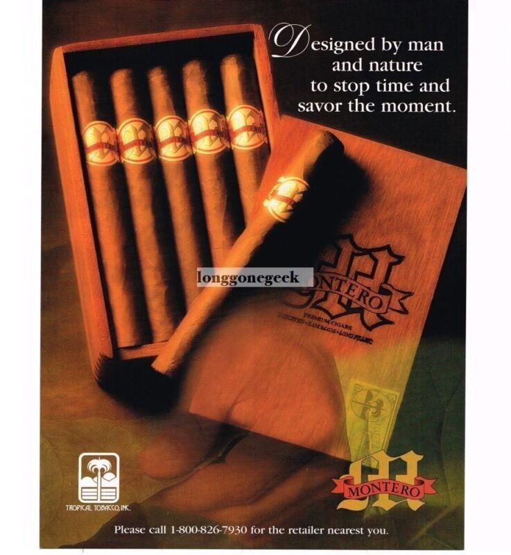 1998 Montero Cigars Vintage Ad