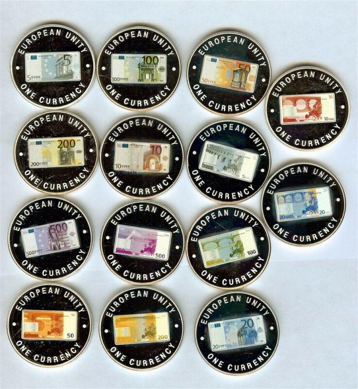 ZAMBIA 1999 1000 KWACHA - EUROPEAN UNITY CURRENCY - 14 PROOF COIN SET