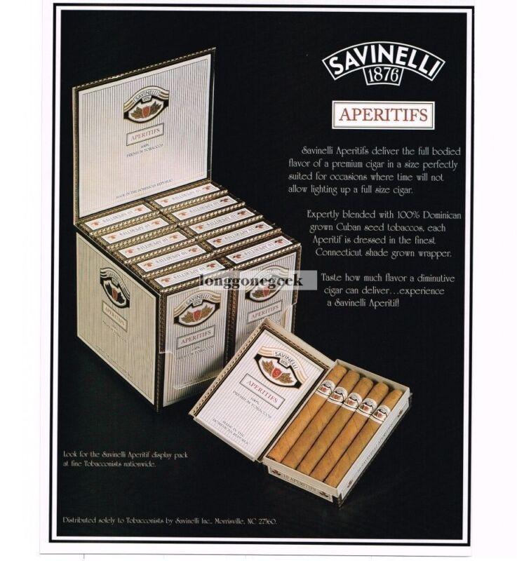 1998 Savinelli Aperitifs Cigars Vintage Ad