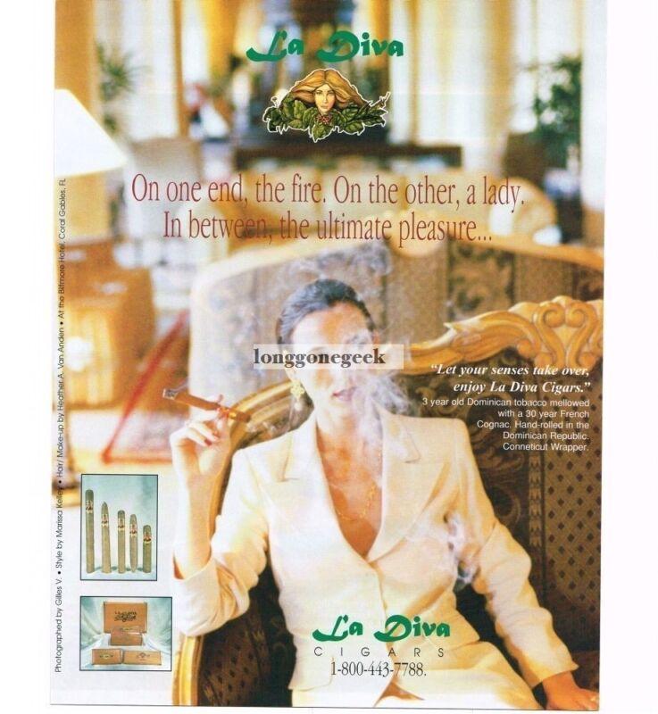 1998 La Diva Cigars Vintage Ad