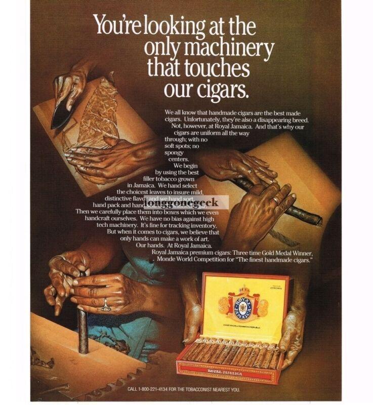 1997 Royal Jamaica Cigars Vintage Print Ad