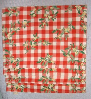 XOCHI 4 RED & WHITE CHECKED PLACEMATS 18 X 14 100% COTTON NICE