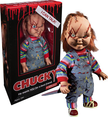 Chucky Figure Mega Scale Child's Play Scarred Talking Doll the Doll Killer