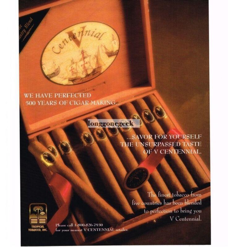 1997 V Centennial Cigars Vintage Print Ad