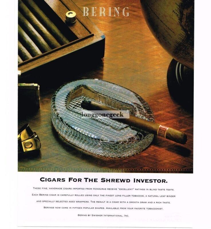 1997 Bering Cigars Vintage Print Ad