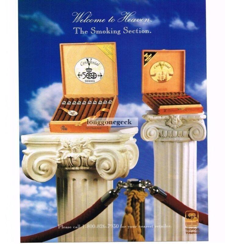 1997 V Centennial 500 Series Churchill Cigars Vintage Print Ad