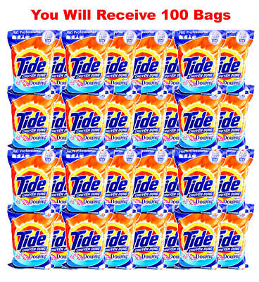 100 Bags- Tide Laundry Detergent Powder + Downy P&G 9kg/