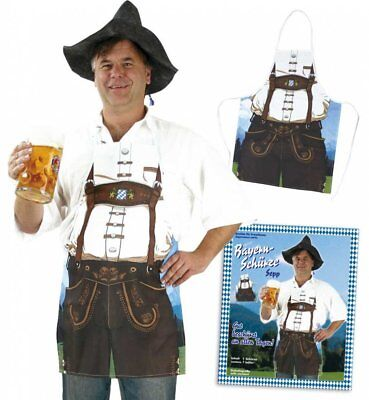 German Bavarian Oktoberfest Funny Costume Apron Classic Lederhosen - Funny Lederhosen Costume
